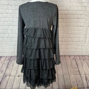 Young threads fashionably young black ruffle dress